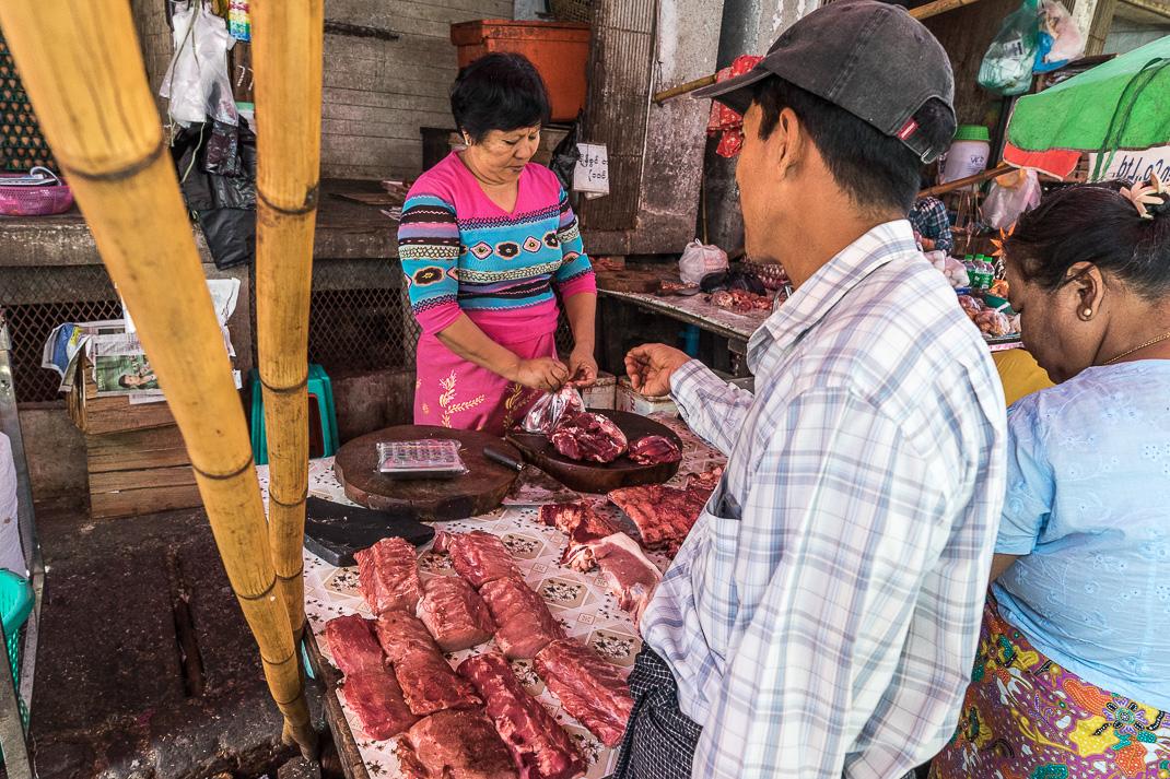 Yangon Street Market Meat