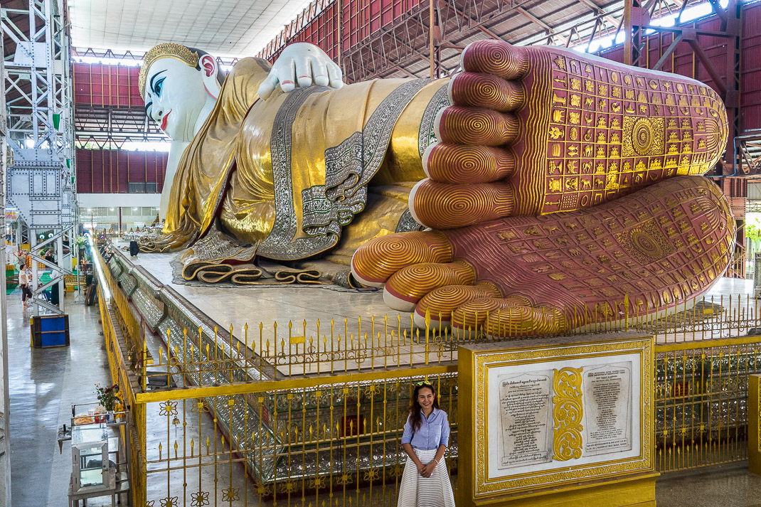 Yangon Temples Chaukhtatgyi Buddha Feet