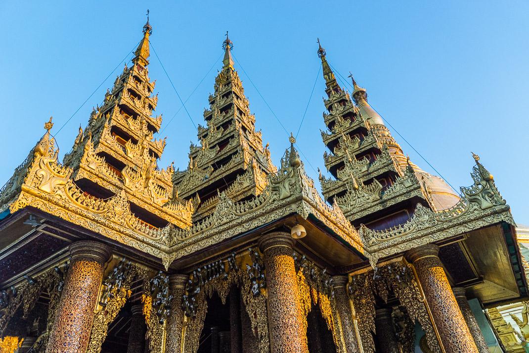 Yangon Temples Shwedagon Spires