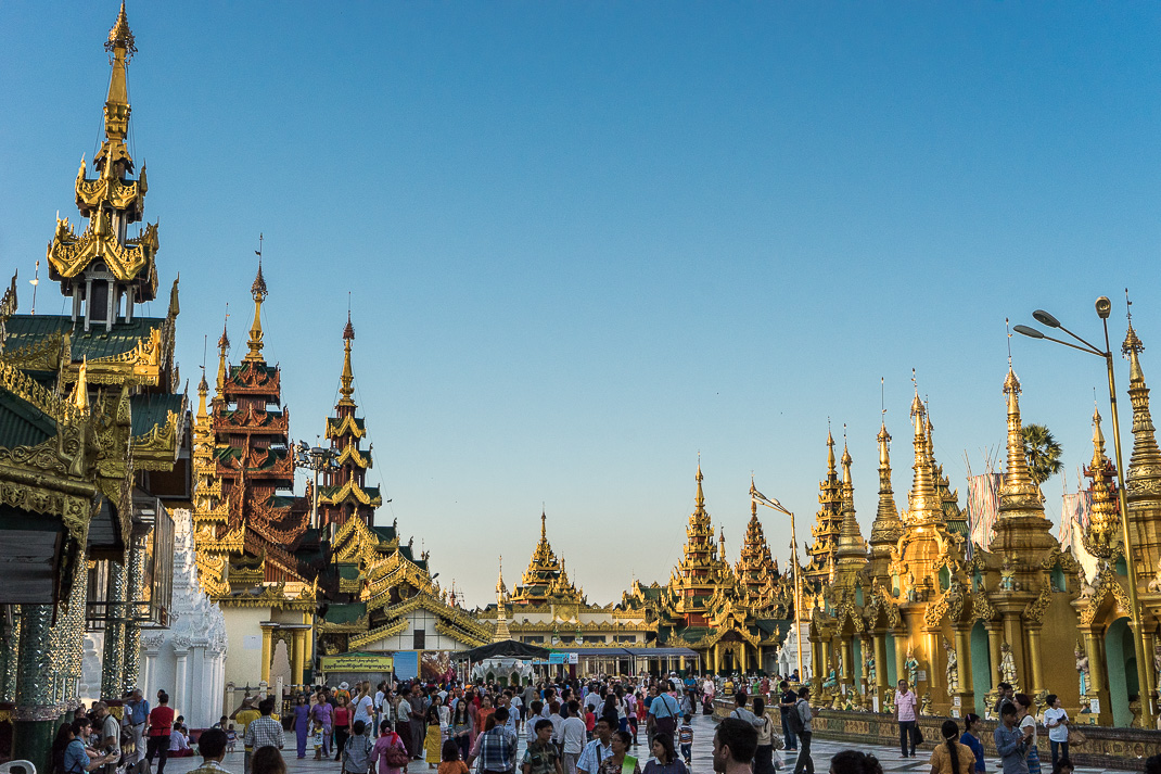 Yangon Temples Shwedagon Central Walkway