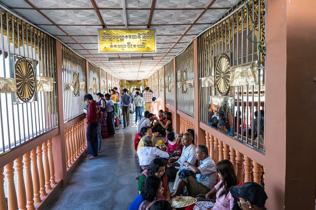 Yangon Temples Yele Hallway Group
