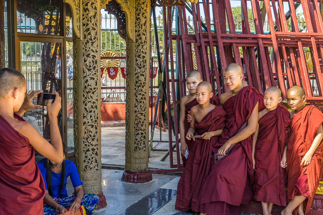 Yangon Temples Yele Monks Picture