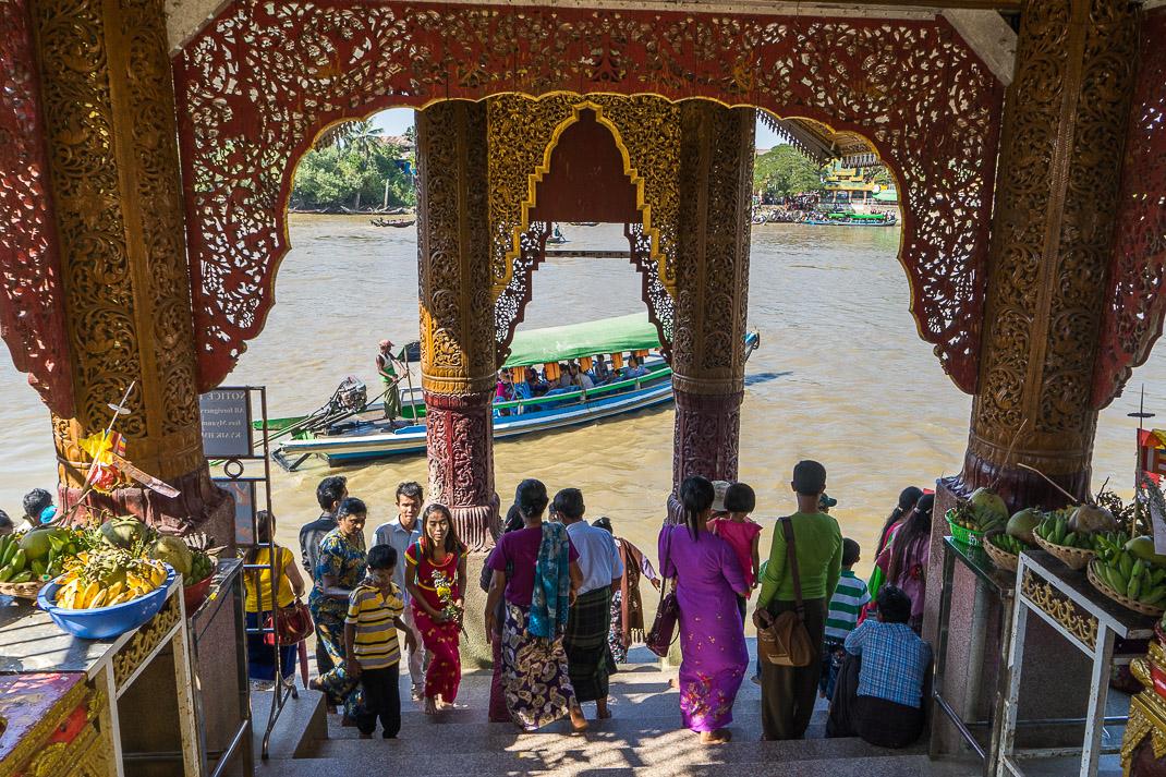 Yangon Temples Yele Pagoda Entrance