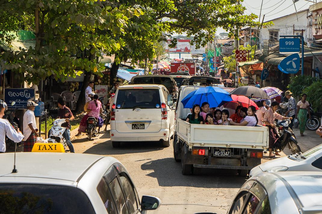 Yangon Temples Yele Traffic Jam