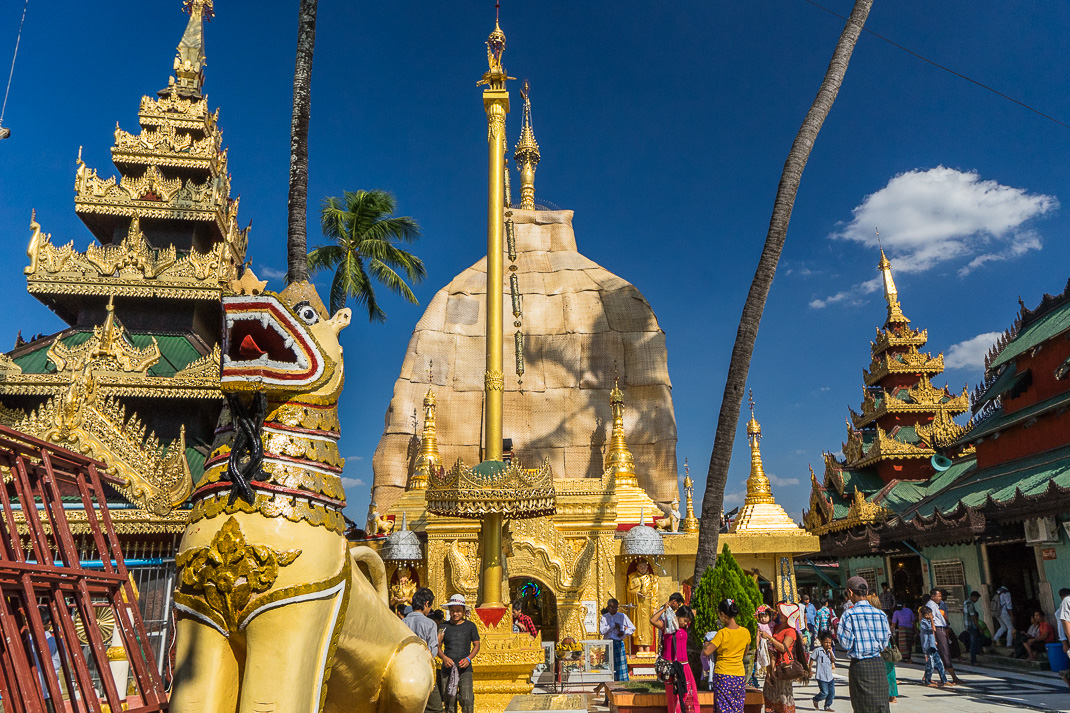 Yangon Temples Yele Wide View